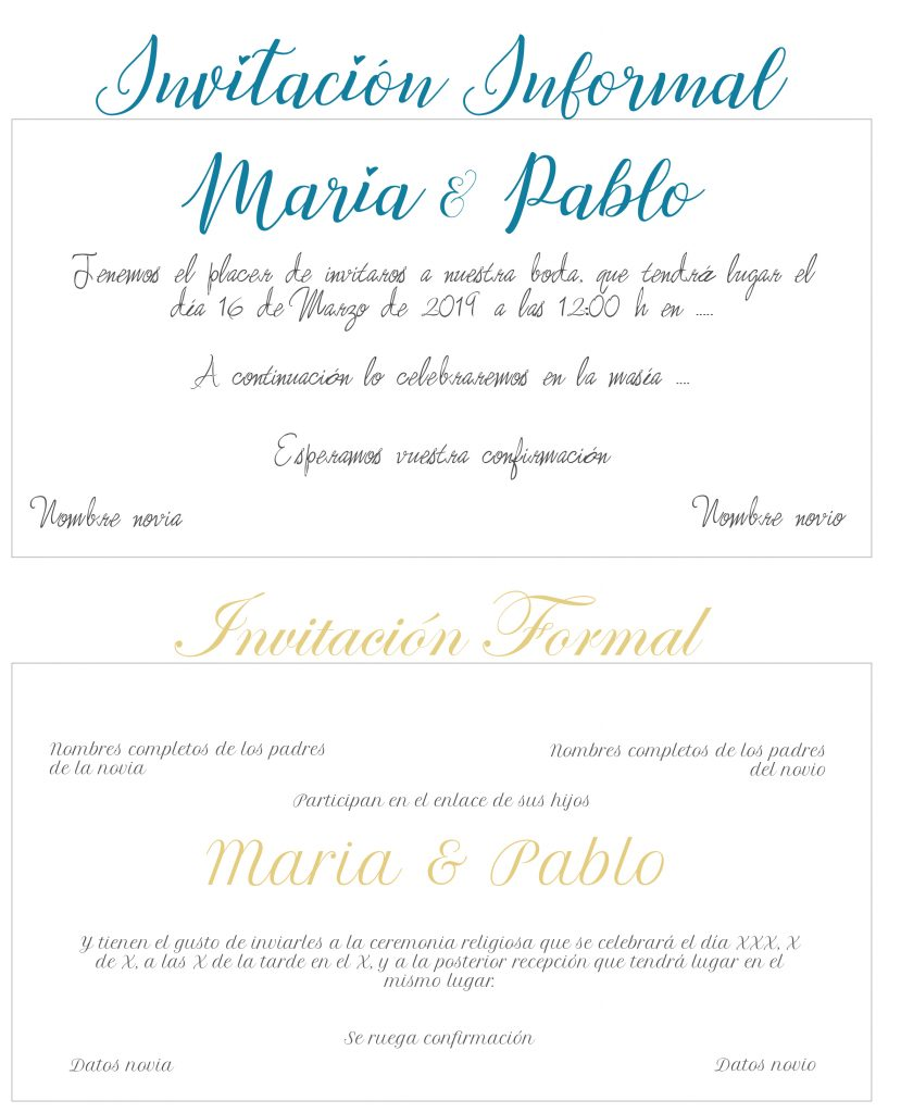 Invitaciones Easy Bride